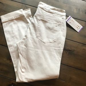 NWT Jessica Simpson cropped skinny jeans white 4
